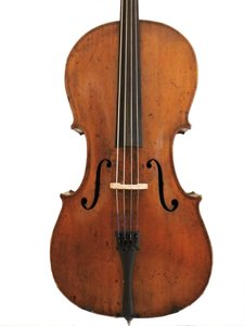 3/4 old French cello
